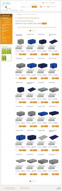Arcabox E-Shop - KLT přepravky a stohovatelné přepravky - Výpis produktů