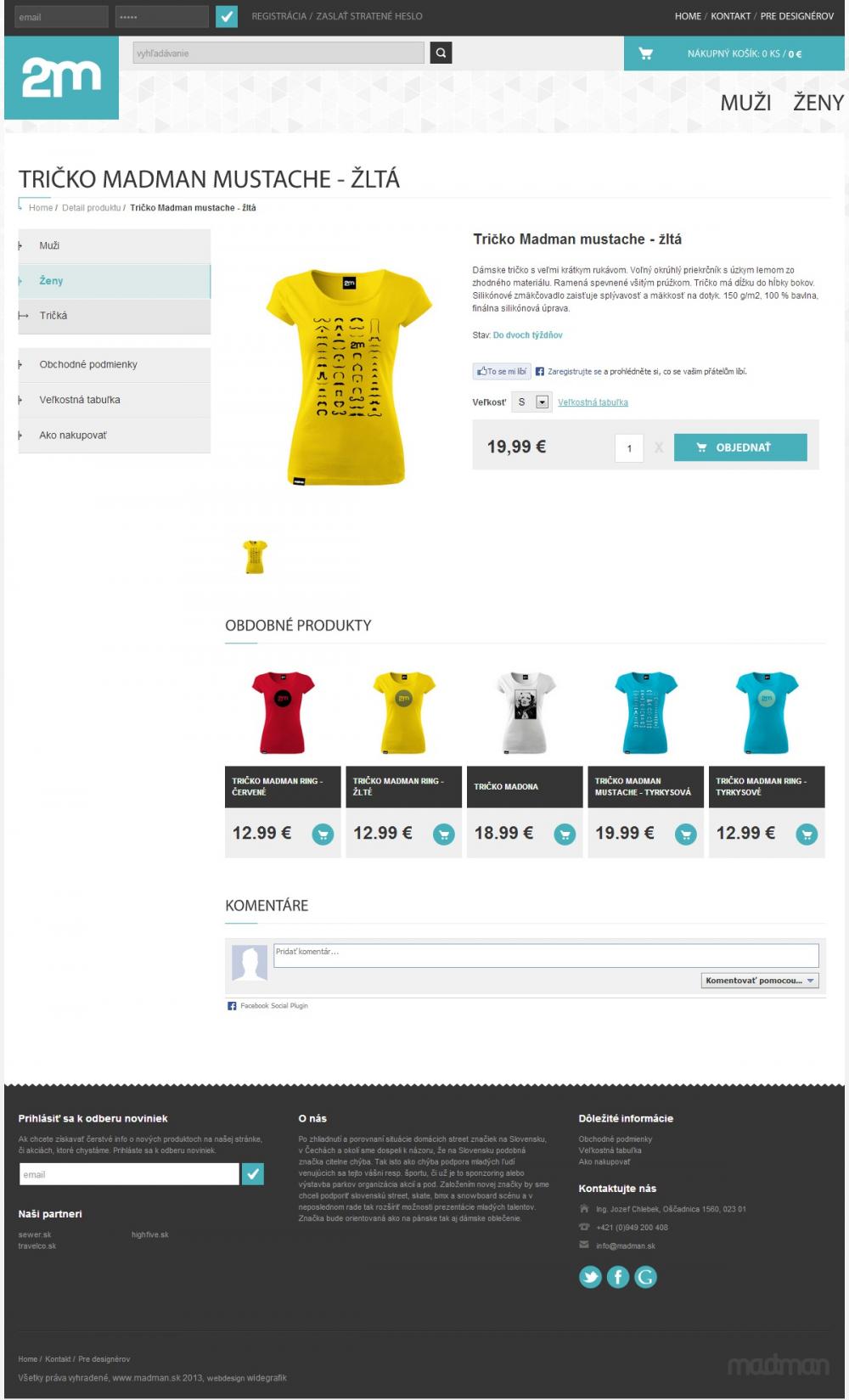 Madman Madclothing E-Shop - Detail Produktu